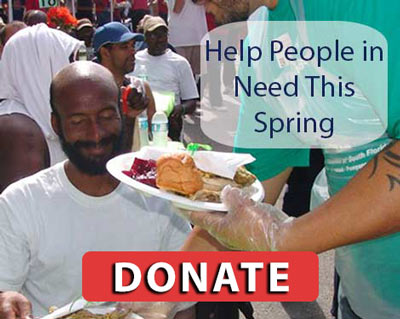 Donate to help the homeless and needy this Spring.