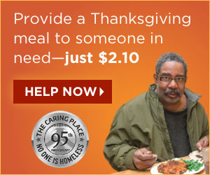 Donate to help the homeless and needy this Thanksgiving.
